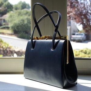 Vintage Styled by Bagmaster of London Navy Handbag